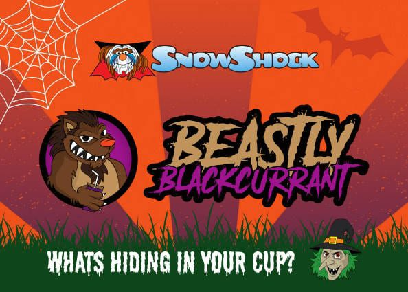 Beastly Blackcurrant Flavour Label 2018