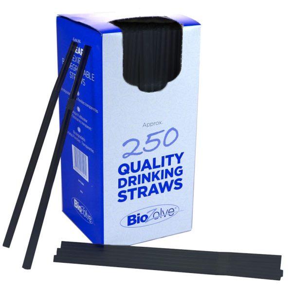 Bio Straws Black