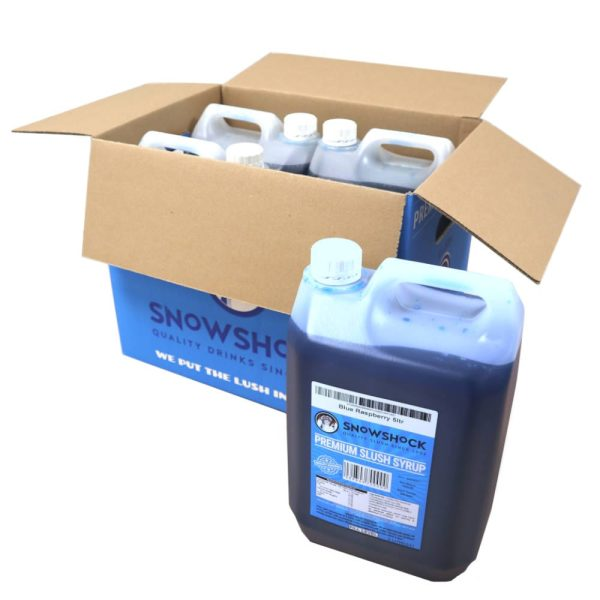 Blue Raspberry Bottle infront of box