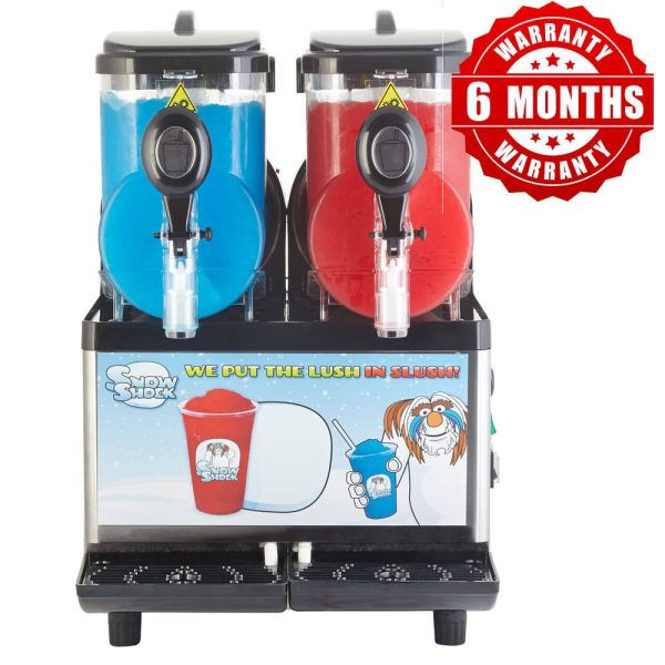 Image of SnowShock machine - two colours with warranty label