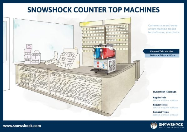 Layout 1-Compact Twin Slush Machine – Refurbished