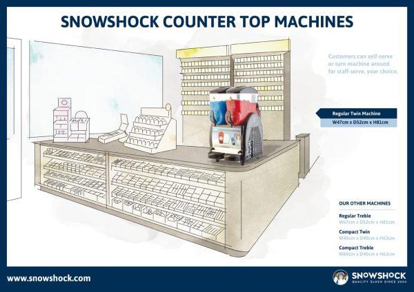 Layout 1-Regular Twin Slush Machine – Refurbished