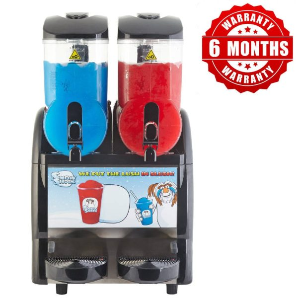 Image of SnowShock machine - two colours with red label