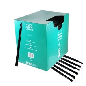 Box of black spoon straws