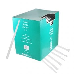 Box of clear spoon straws